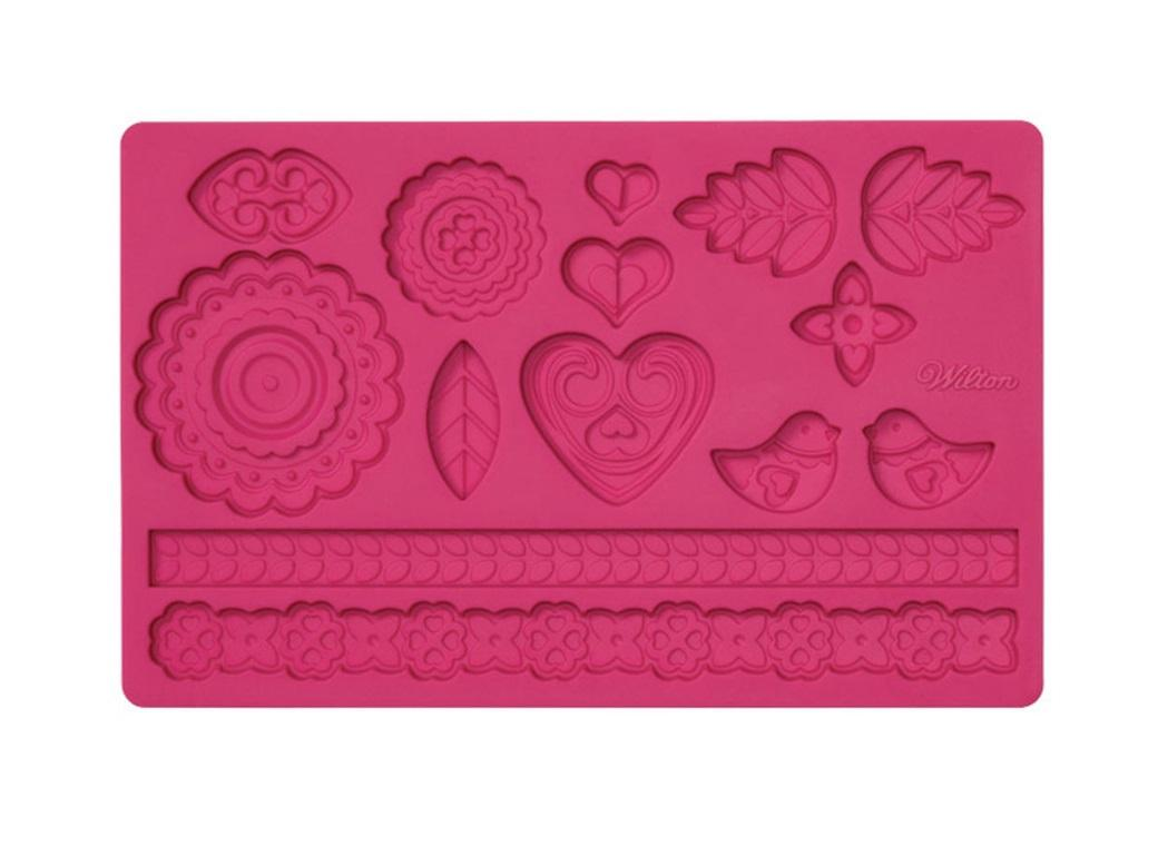 Silicone Fondant Mould - Folk