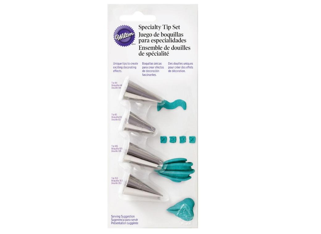Wilton 4pce Specialty Tip Set
