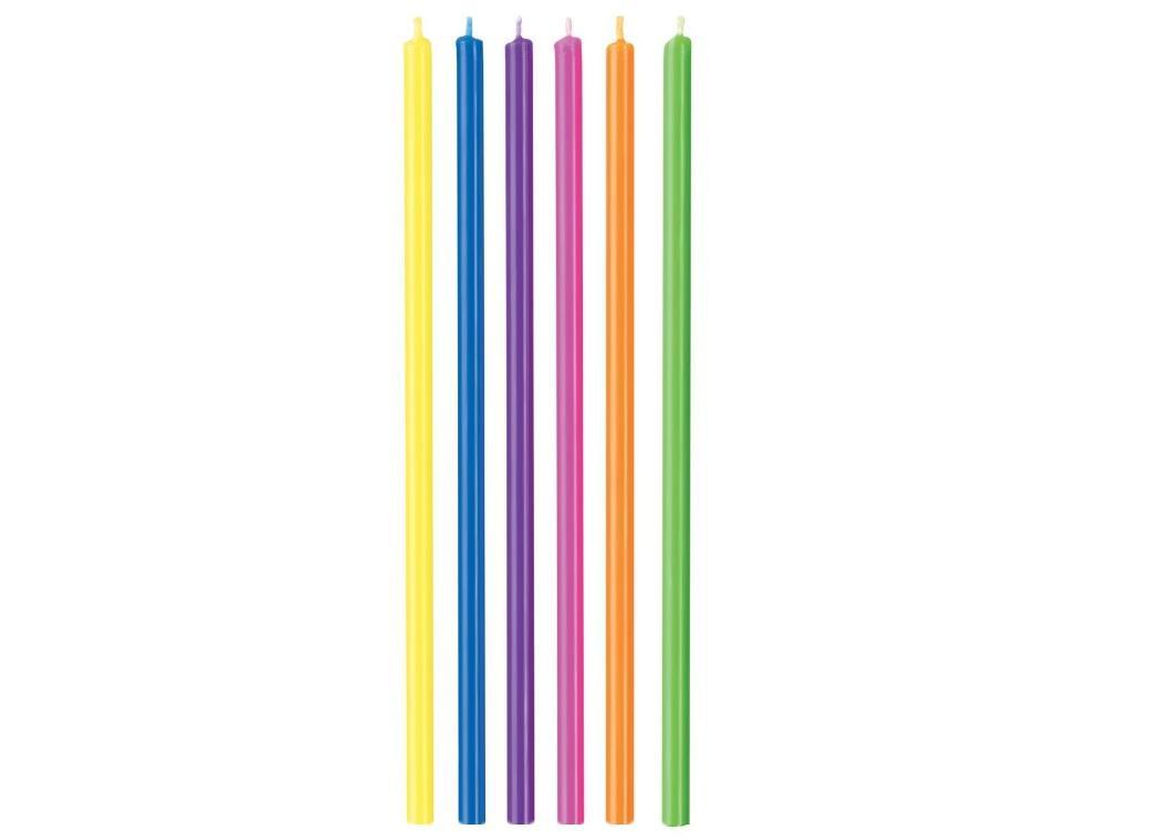 Wilton Tall Multicolour Candles 12pk
