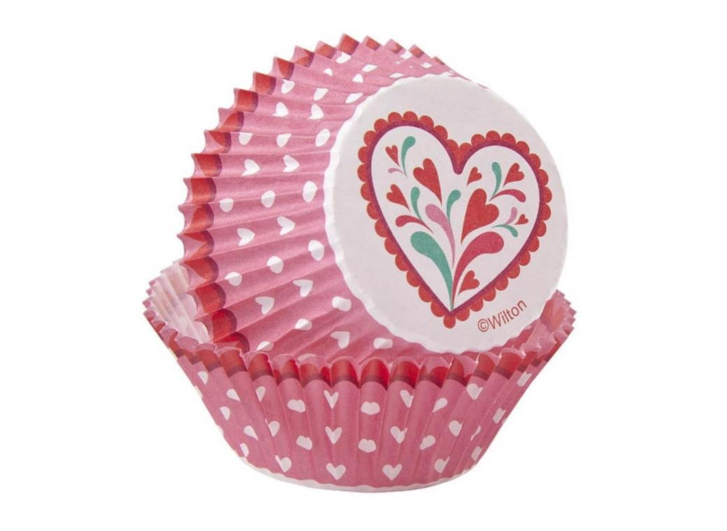 Wilton Pink Hearts Cupcake Cases 75pk