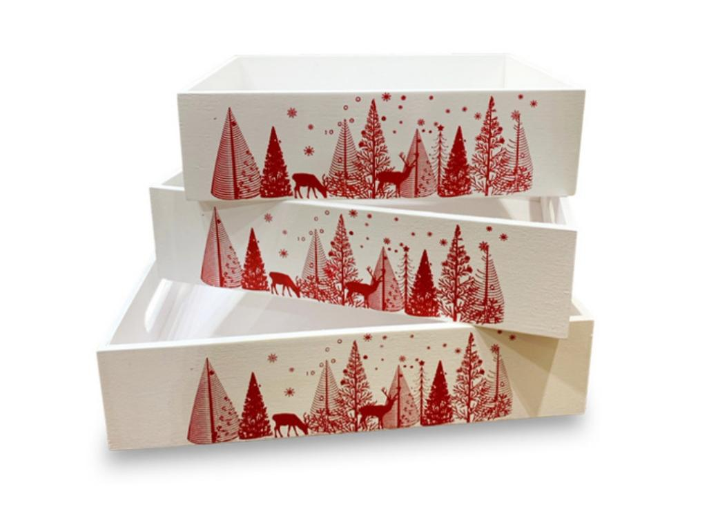 Wooden Christmas Gift Tray - 3 Sizes