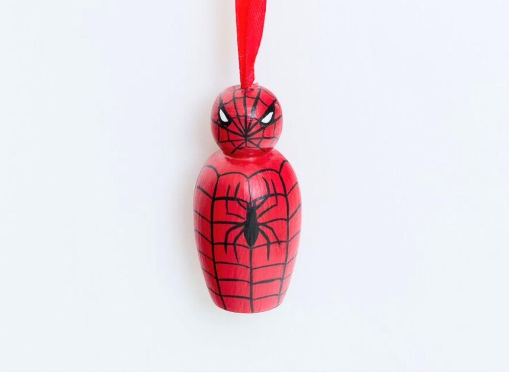 Wooden Hanging Ornament - Spiderman