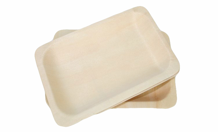 Wooden Plates Medium - 6pk