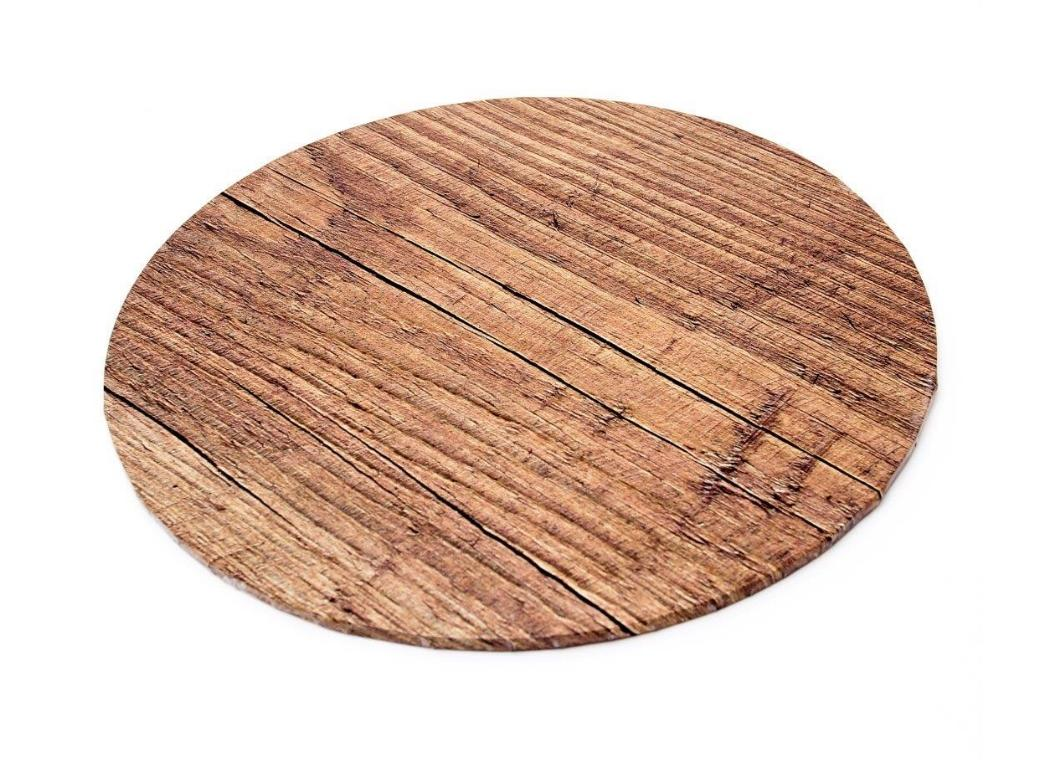 Woodgrain Masonite Cake Board Round - 12""