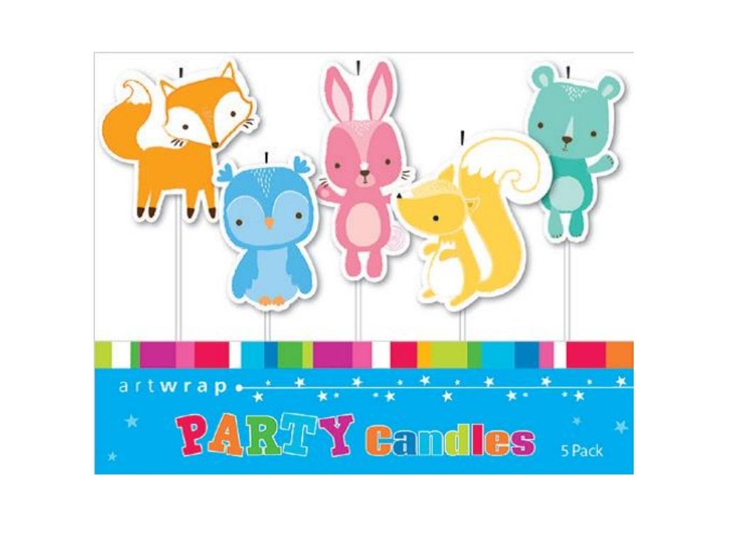 Party Candles - Woodland Animals