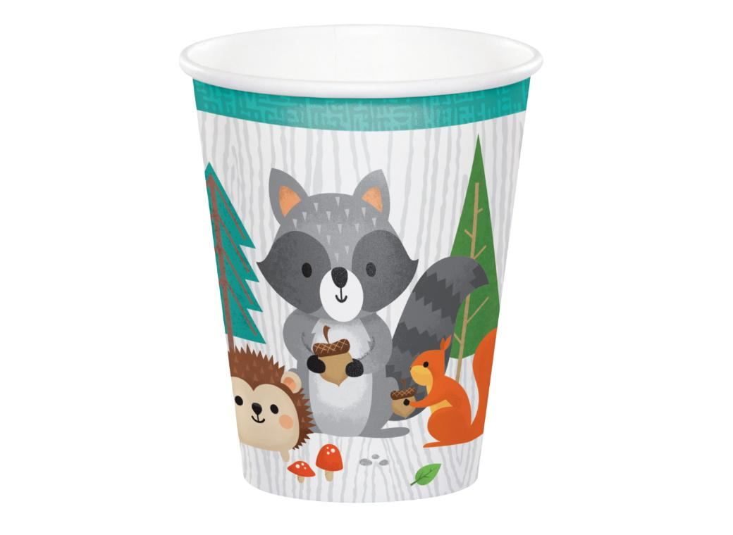 Woodland Animals Cups 8pk