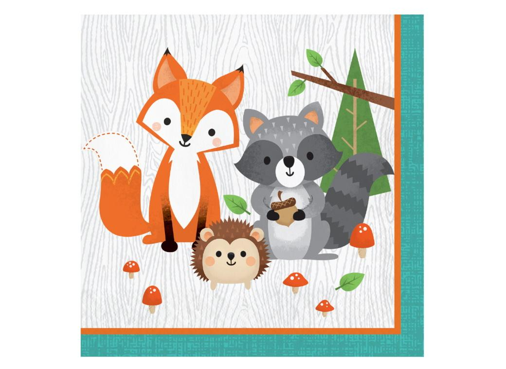 Woodland Animals Lunch Napkins 16pk