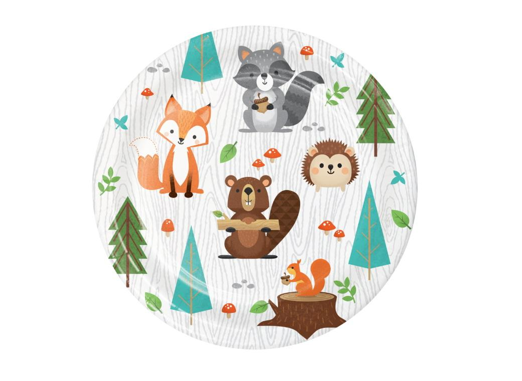 Woodland Animals Lunch Plates 8pk