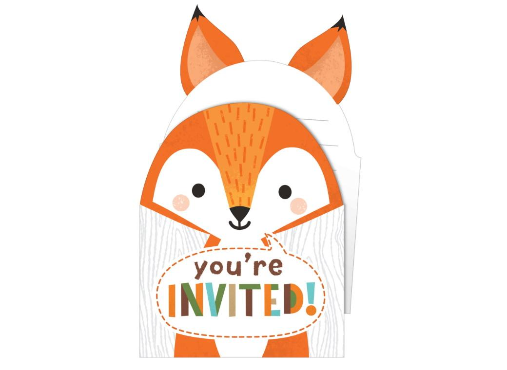 Woodland Animals Invitations 8pk