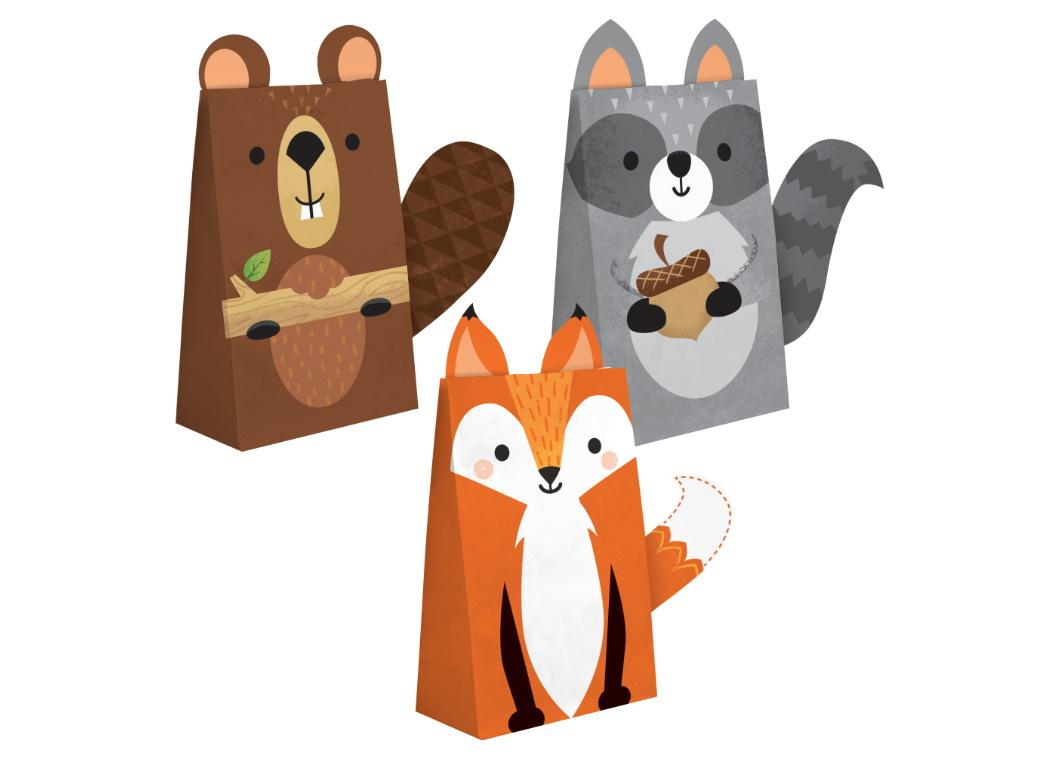 Woodland Animals Treat Bags 8pk