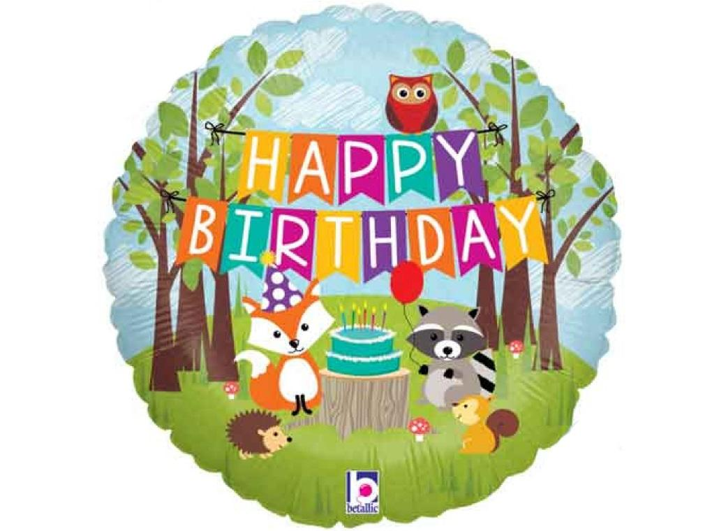 Woodland Birthday Foil Balloon