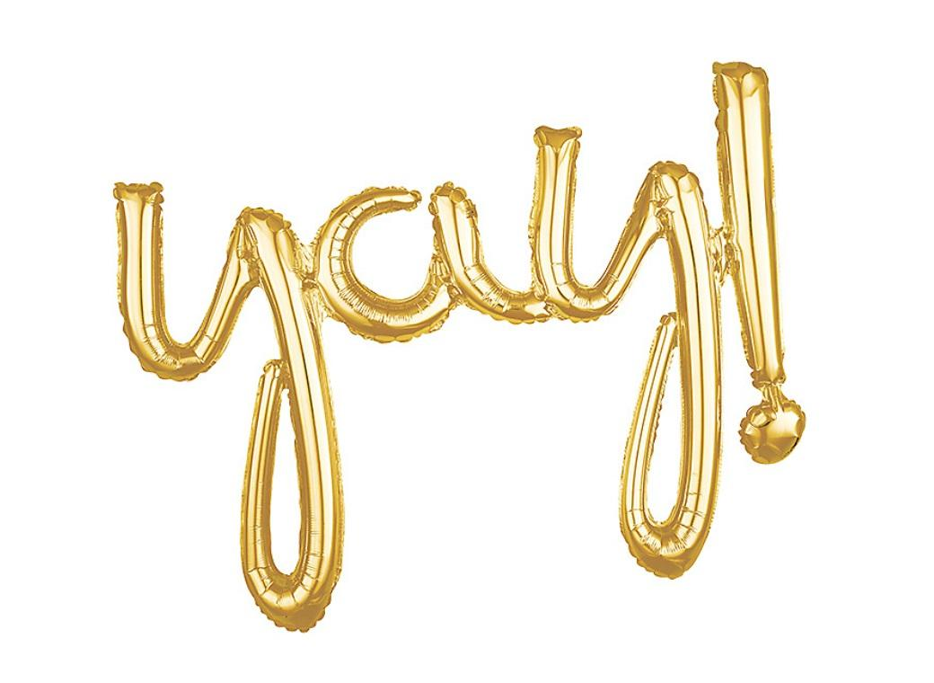 Script Balloon Gold Yay