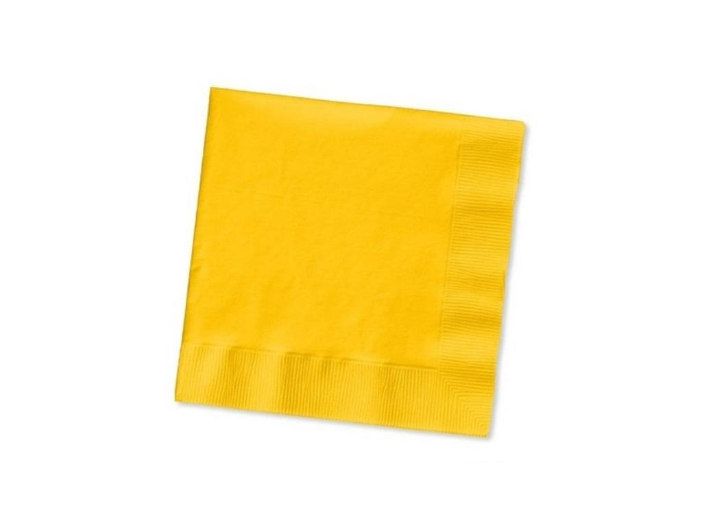 Yellow Beverage Napkins 50pk