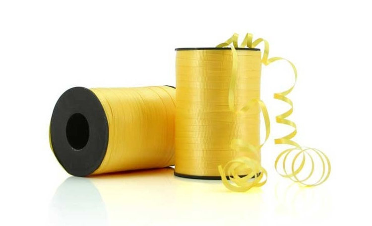 Curling Ribbon - Yellow 91m