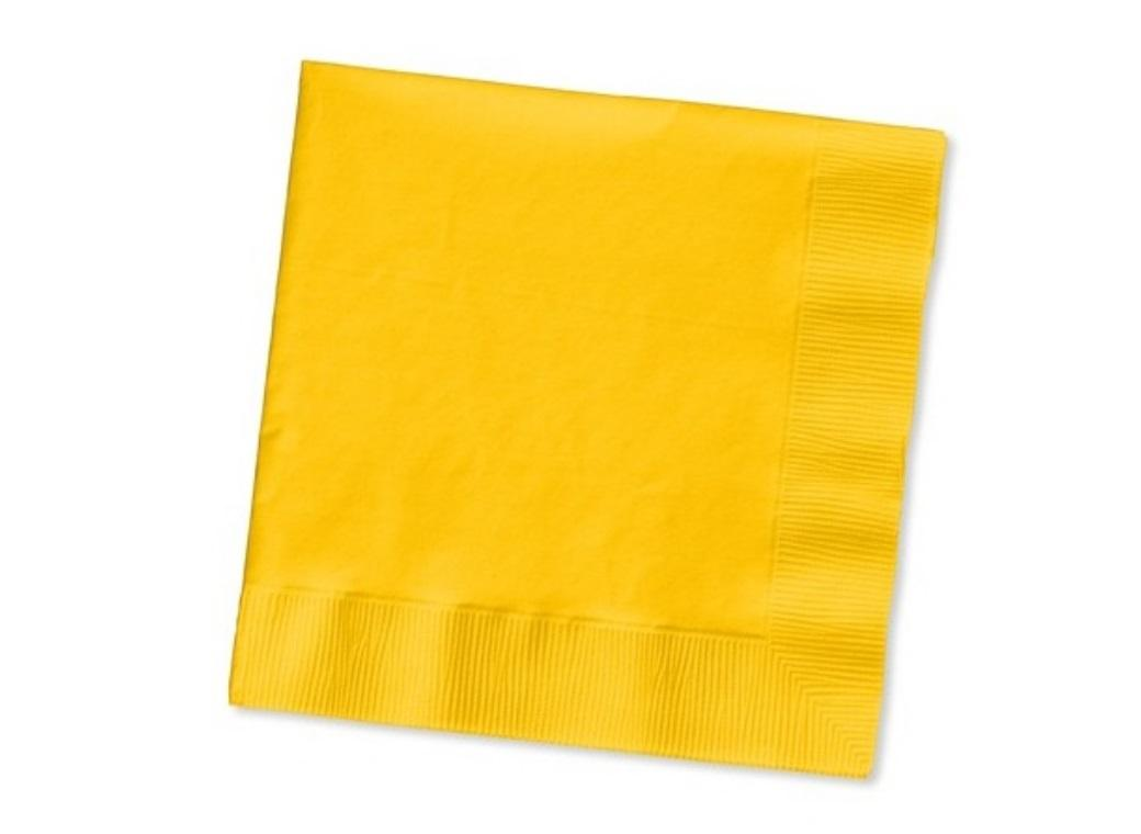 Yellow Lunch Napkins - 50 Pack