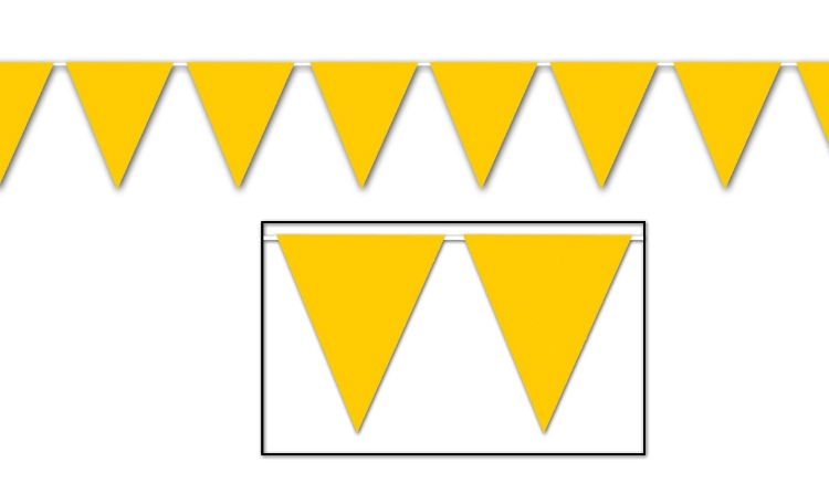 All Weather Bunting Flags - Golden Yellow