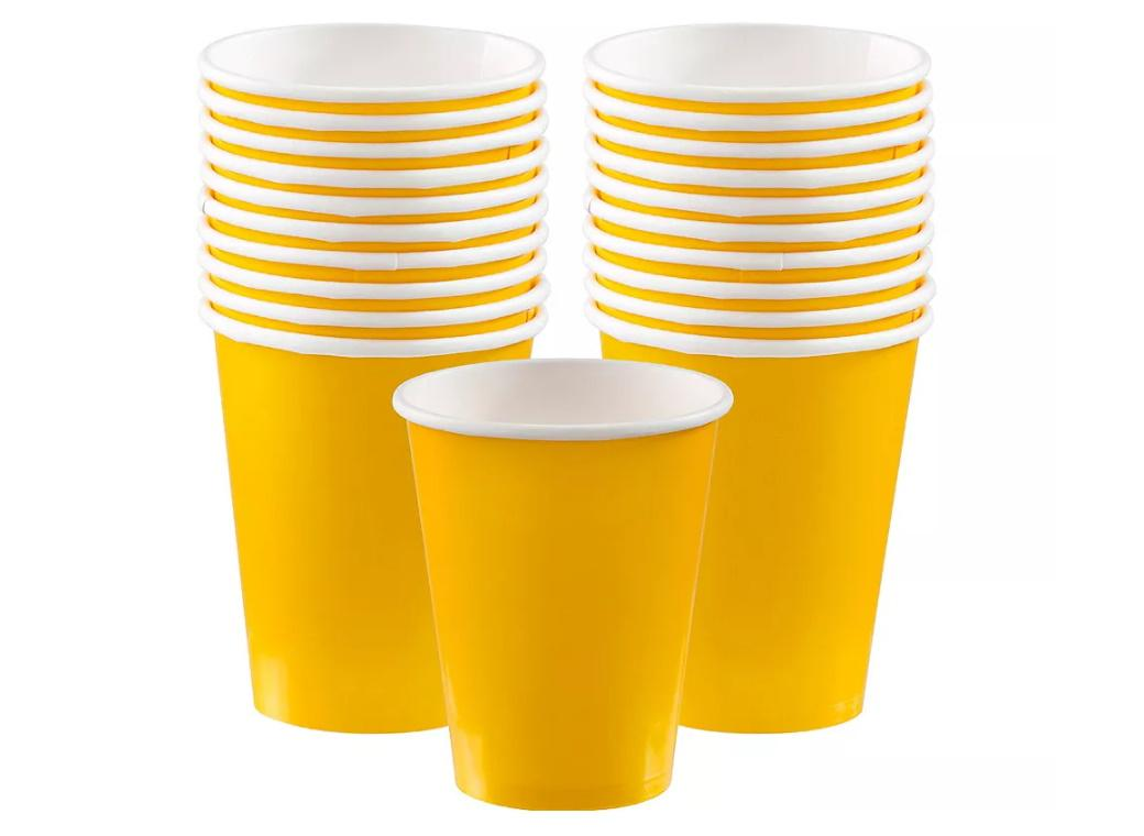 Paper Cups 20pk -Yellow