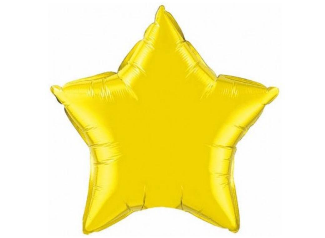 Star Shaped Foil Balloon - Yellow