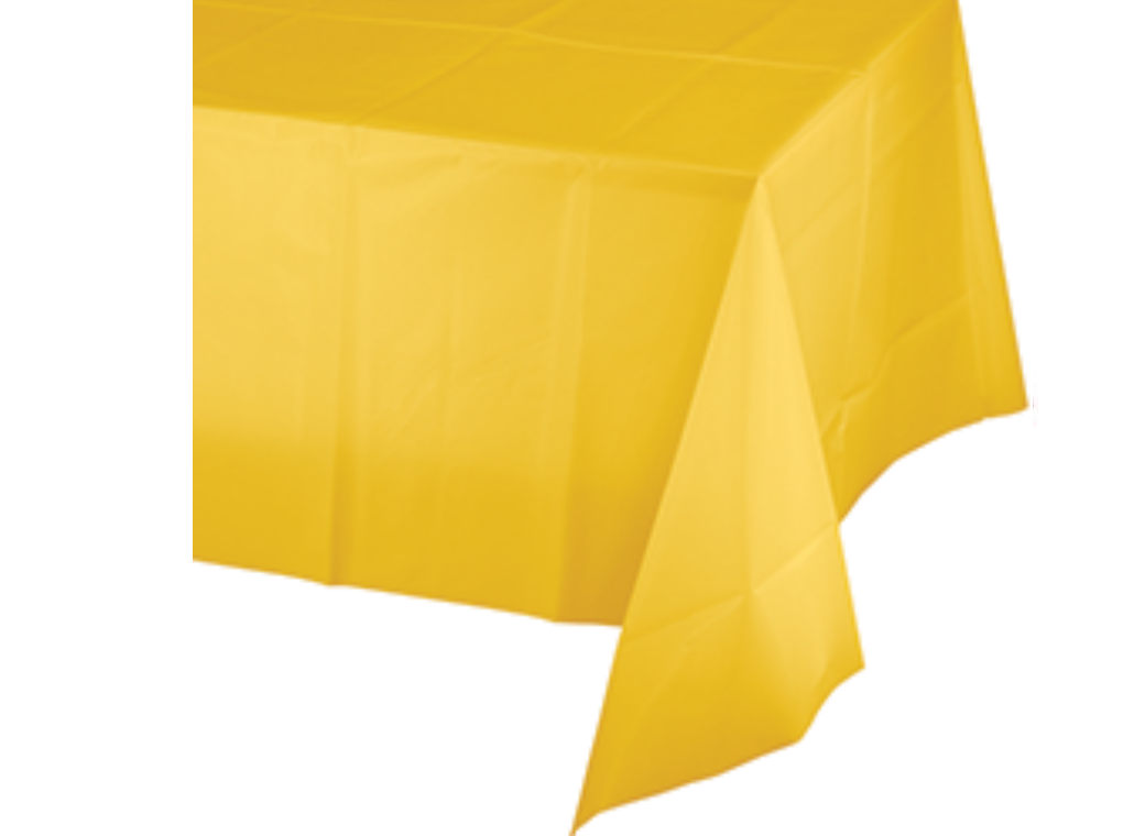 Yellow Plastic Table Cloth