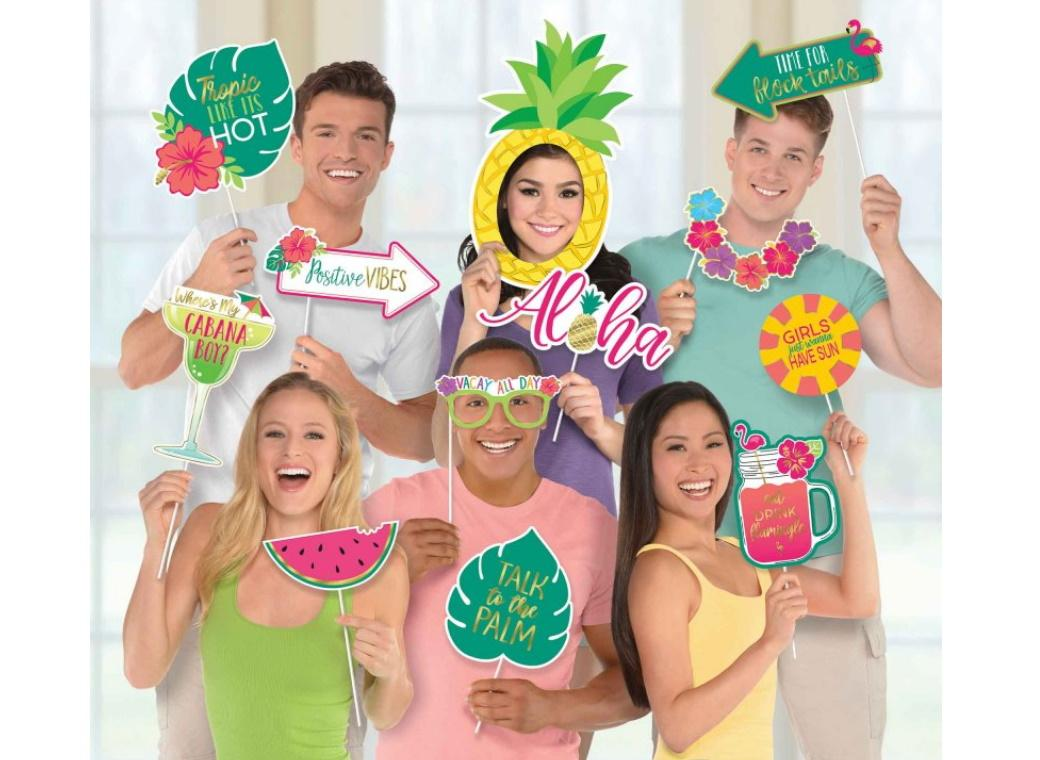 You Had Me at Aloha Photo Booth Props