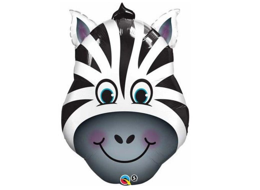 Zany Zebra SuperShape Foil Balloon